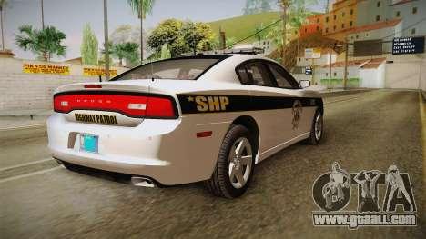 Dodge Charger 2013 SA Highway Patrol v1 for GTA San Andreas right view