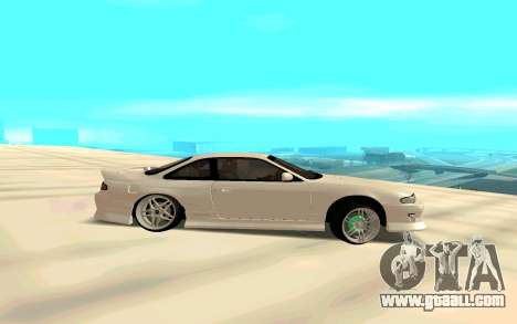 Nissan Silvia White S14 for GTA San Andreas left view