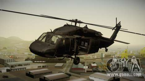 CoD 4: MW - UH-60 Blackhawk US Army Remastered for GTA San Andreas