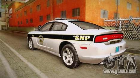 Dodge Charger 2013 SA Highway Patrol v1 for GTA San Andreas left view