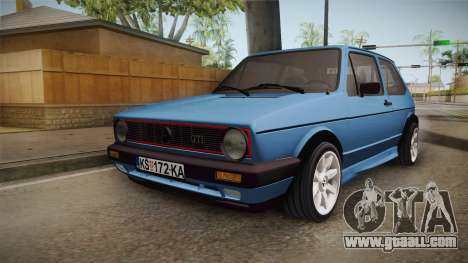 Volkswagen Golf Mk1 GTI for GTA San Andreas back left view