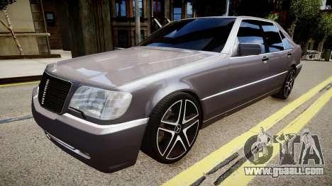 Mercedes-Benz S70 for GTA 4
