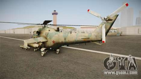 CoD Series - Mi-24D Hind Woodland for GTA San Andreas right view