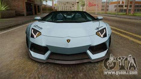 Lamborghini Aventador LP700-4 Roadster 2013 v2 for GTA San Andreas side view