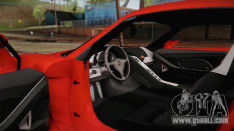 Porsche Carrera GT for GTA San Andreas inner view