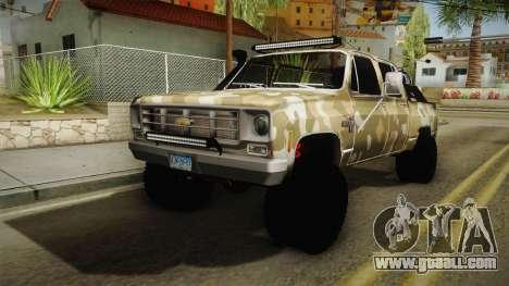 Chevrolet Silverado 1978 4x4 for GTA San Andreas