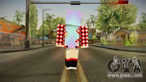 Minecraft Gamer Girl (Normal Maps) for GTA San Andreas third screenshot
