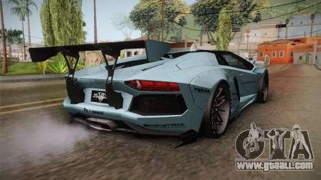 Lamborghini Aventador LP700-4 Roadster 2013 v2 for GTA San Andreas left view