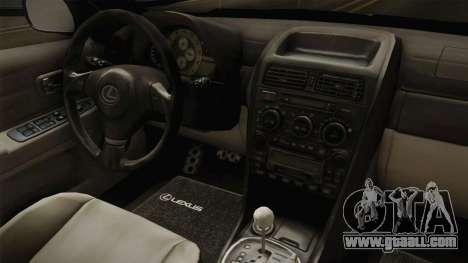 Lexus IS300 Rocket Bunny v2 for GTA San Andreas inner view