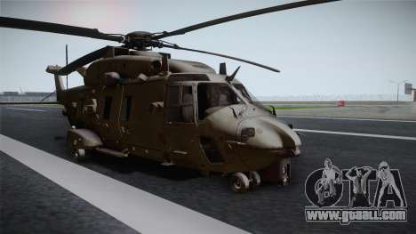 CoD: Ghosts - NH90 for GTA San Andreas back left view