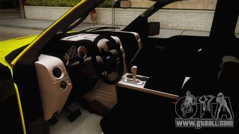 Ford F-150 2005 King Cab for GTA San Andreas inner view