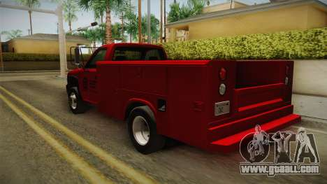 Chevrolet Silverado 2500HD Utility 2001 HQLM for GTA San Andreas right view