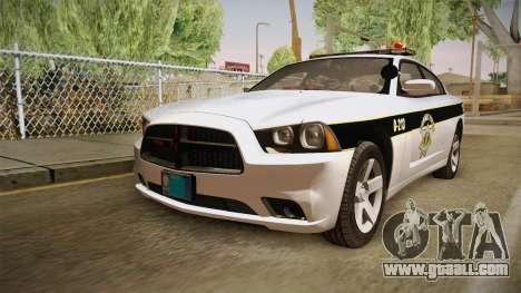 Dodge Charger 2013 SA Highway Patrol v1 for GTA San Andreas back left view