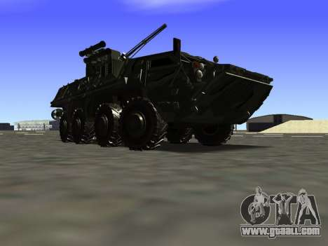 BTR 4 for GTA San Andreas back left view