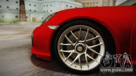 Porsche 911 Turbo S 2017 for GTA San Andreas back left view