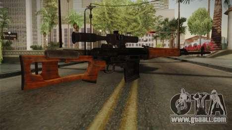 CoD 4: MW - Dragunov Remastered for GTA San Andreas second screenshot