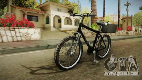 Police Mountain Bike for GTA San Andreas back left view
