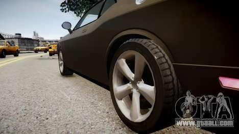 Dodge Challenger SRT8 2010 for GTA 4 back view