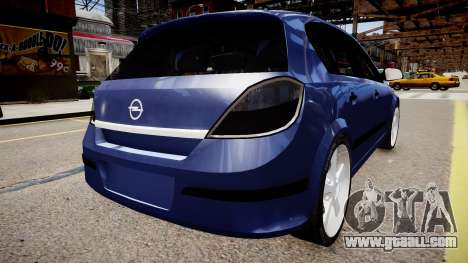 Opel Astra 1.9 TDI for GTA 4 left view