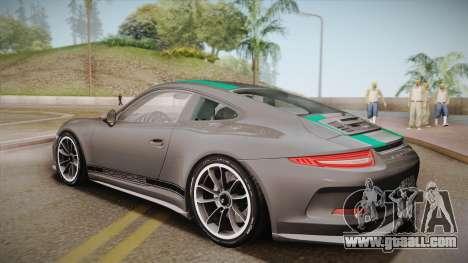 Porsche 911 R (991) 2017 v1.0 Green for GTA San Andreas left view