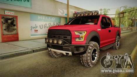 Ford F-150 Raptor 2017 Beta for GTA San Andreas