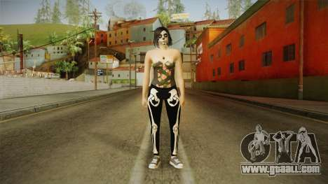 Halloween Surprise DLC Female Skin for GTA San Andreas second screenshot
