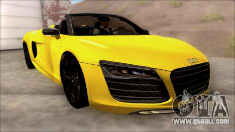 Audi R8 Spyder 5.2 V10 Plus for GTA San Andreas