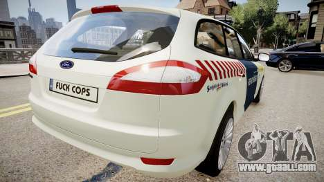 Hungarian Ford Police Car for GTA 4 back left view