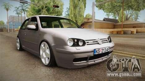 Volkswagen Golf Mk4 GTI for GTA San Andreas right view