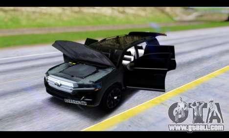Toyota Land Cruiser 200 2016 for GTA San Andreas inner view