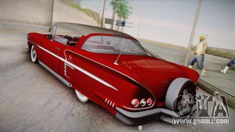 Chevrolet Impala Sport Coupe V8 1958 IVF for GTA San Andreas left view