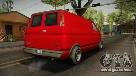 GTA 5 Declasse Burrito Civilian for GTA San Andreas left view