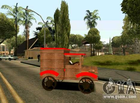 Wooden Toy Truck for GTA San Andreas left view