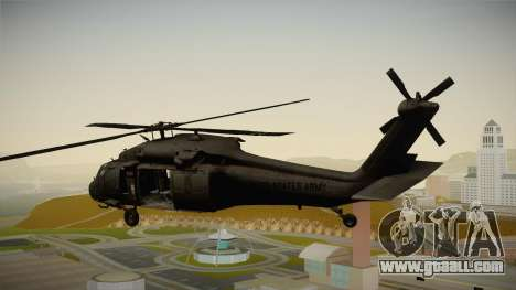 CoD 4: MW - UH-60 Blackhawk US Army Remastered for GTA San Andreas left view