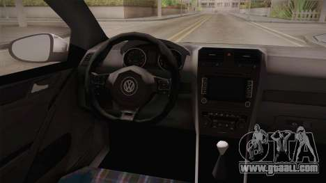 Volkswagen Golf Mk6 Police for GTA San Andreas back view