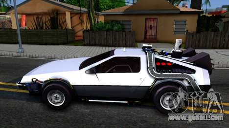 Delorean DMC-12 Time Machine for GTA San Andreas