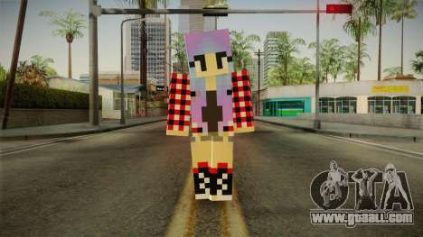 Minecraft Gamer Girl (Normal Maps) for GTA San Andreas second screenshot