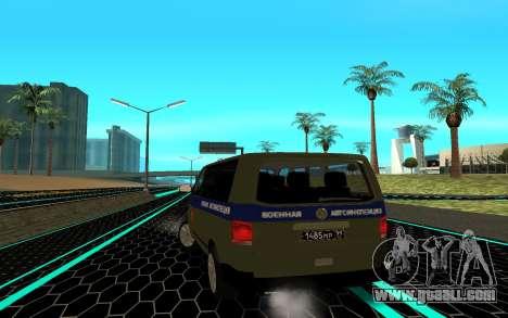 Volkswagen Transporter for GTA San Andreas back left view