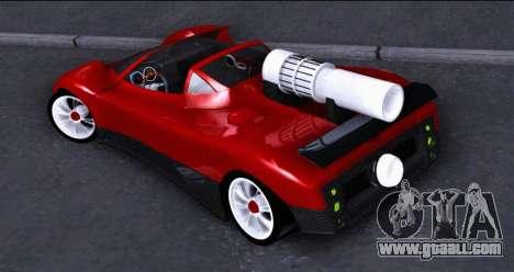 Pagani Zonda Revolucion 2016 for GTA San Andreas left view