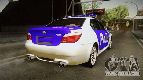 BMW M5 E60 Police for GTA San Andreas left view
