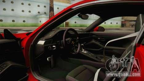 Porsche 911 Turbo S 2017 for GTA San Andreas inner view