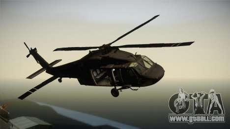 CoD 4: MW - UH-60 Blackhawk US Army Remastered for GTA San Andreas back left view
