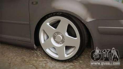 Volkswagen Golf Mk4 GTI for GTA San Andreas back view