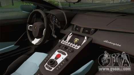 Lamborghini Aventador LP700-4 Roadster 2013 v2 for GTA San Andreas back view