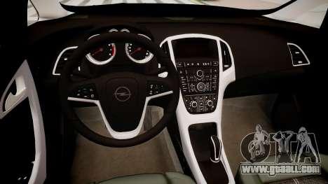 Opel Astra Sports Tourer 2011 for GTA 4 inner view