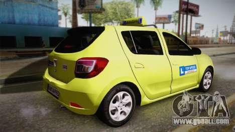 Dacia Sandero 2016 TOP SPEED for GTA San Andreas left view