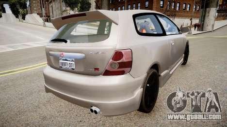 Honda Civic TypeR 2002 for GTA 4 left view