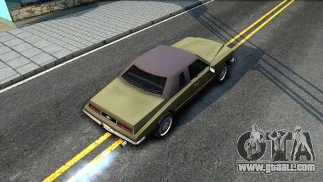 Idaho SA style for GTA San Andreas back view