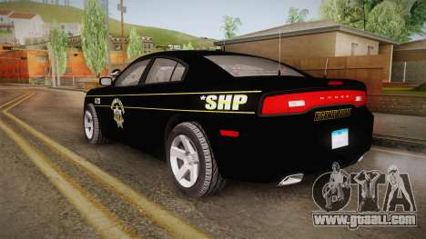 Dodge Charger 2013 SA Highway Patrol v2 for GTA San Andreas left view