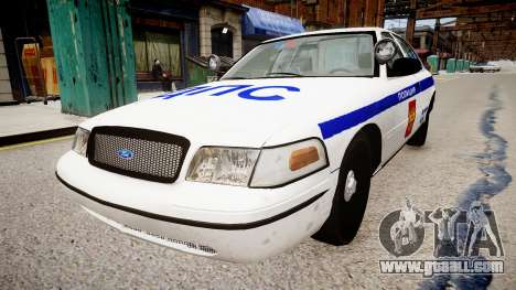 Ford Crown Victoria Police DPS for GTA 4 right view